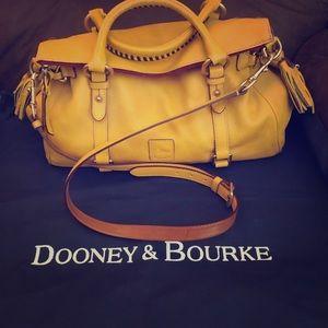 Dooney&Bourke Yellow Medium Florentine Satchel .